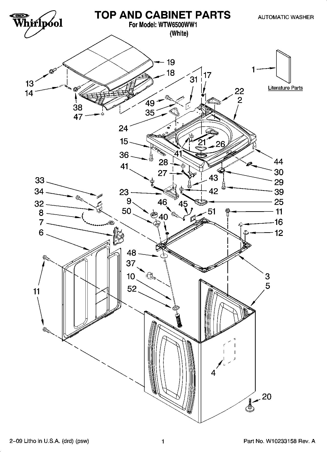 Whirlpool Tub Wiring Diagram Auto Electrical Automatic Washer Optional Parts Model Wtw57esvw1 Pump